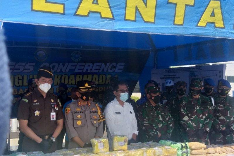 TNI AL serahkan barang bukti 100 kg sabu ke BNN Provinsi Sumut