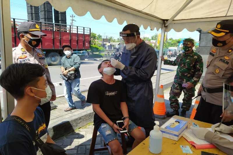 Polres Magelang sosialisasi larangan mudik bagi pengendara bermotor