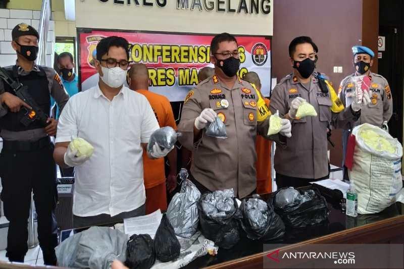 Polres Magelang sita 300 kilogram bahan petasan
