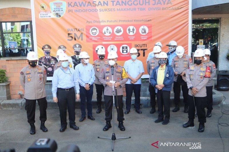 Kapolda Metro inspeksi Kawasan Tangguh Jaya di pabrik Bogasari