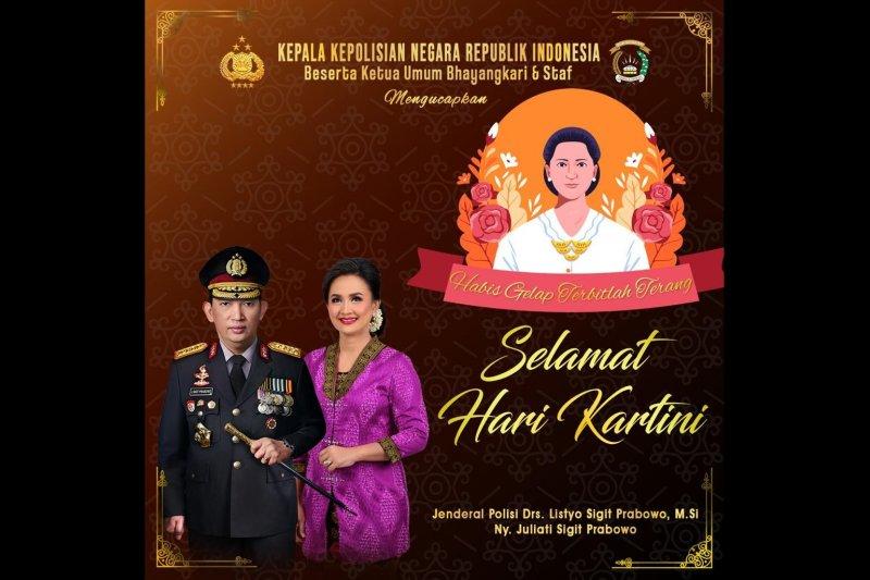 Kapolri: Jadikan Hari Kartini momentum tingkatkan prestasi