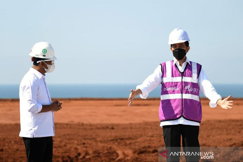 Presiden Jokowi tinjau kesiapan kawasan industri Batang
