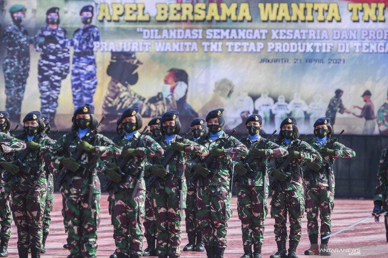 Apel bersama Korps Prajurit Wanita TNI