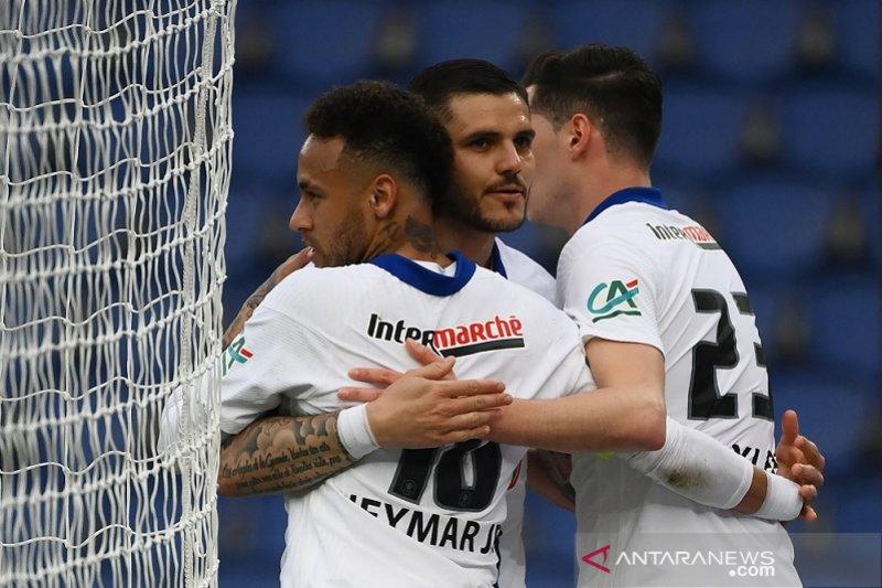 PSG melenggang mulus ke semifinal Piala Prancis seusai menggulung Angers