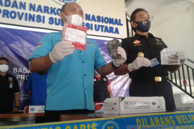 BNN Sulut dan Bea Cukai tangkap dua tersangka narkotika