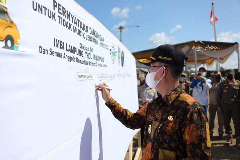 Pemprov Lampung dan komunitas kendaraan berikrar tidak mudik