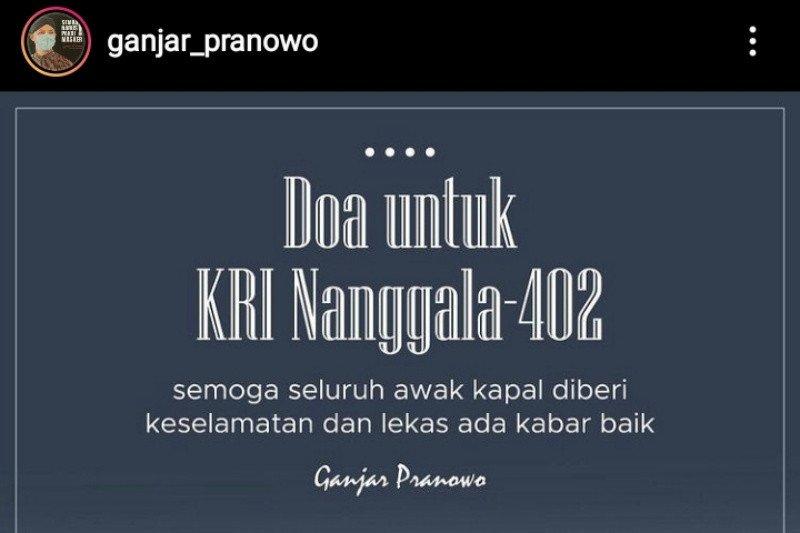 Doa Ganjar untuk keselamatan awak KRI Nanggala-402
