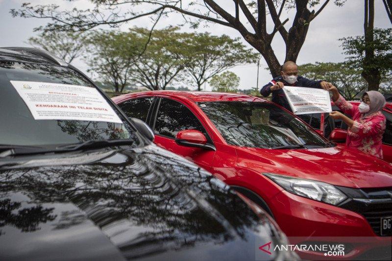 Kejati sita kendaraan tersangka dugaan korupsi Masjid Raya Sriwijaya Palembang