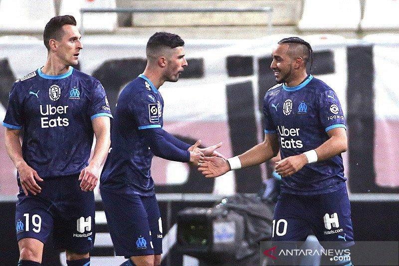 Marseille naik ke posisi lima setelah kalahkan Reims di Liga Prancis