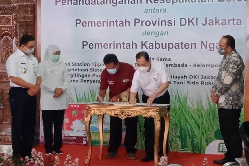 Pemprov DKI gandeng Pemkab Ngawi dukung kebutuhan pangan Jakarta