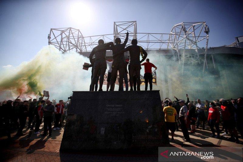 Fans Manchester United protes kepemilikan keluarga Glazer