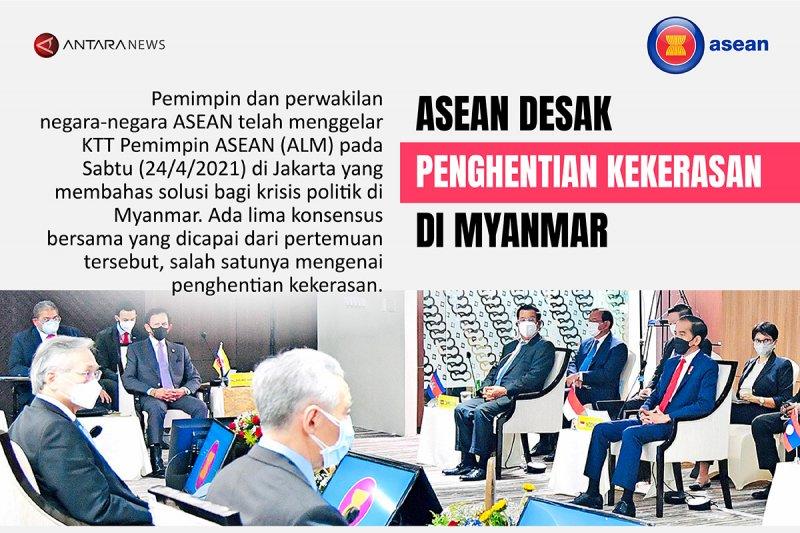 ASEAN desak penghentian kekerasan di Myanmar