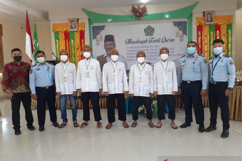 Lima warga binaan Lapas Padang ikuti Musabaqah Tartil Quran Kemenag
