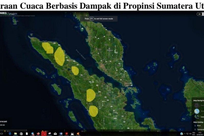 BMKG: Waspada hujan lebat di sebagian wilayah pegunungan di Sumut