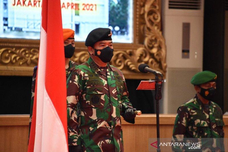 Panglima TNI terima laporan kenaikan pangkat 34 Pati TNI