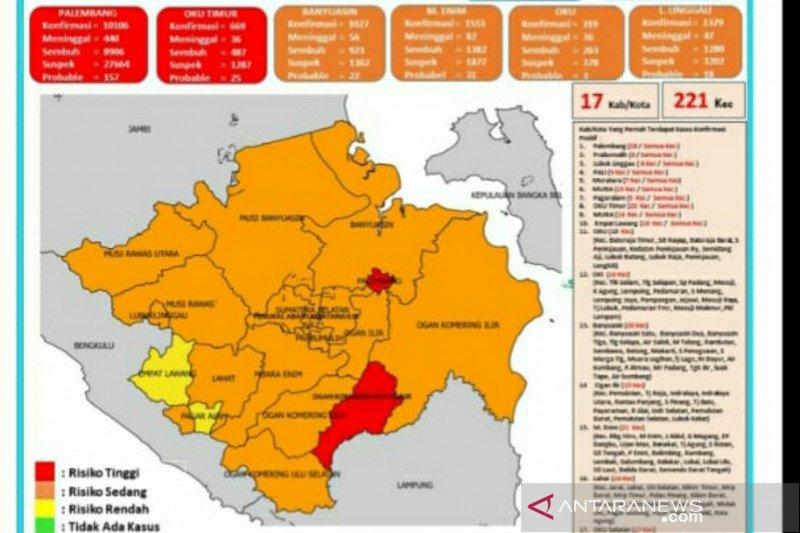 Kasus COVID-19 di Sumatera Selatan meningkat usai PPKM tahap I