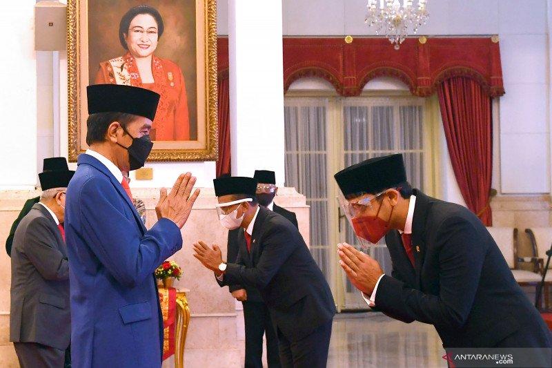 Sepekan, Presiden Jokowi lantik menteri hingga deklarasi Partai Ummat