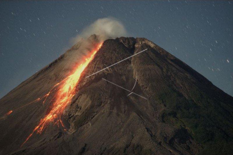 Gunung Merapi mengalami 112 kali gempa guguran