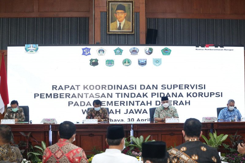 KPK gelar rakor pemberantasan tindak pidana korupsi di Surabaya