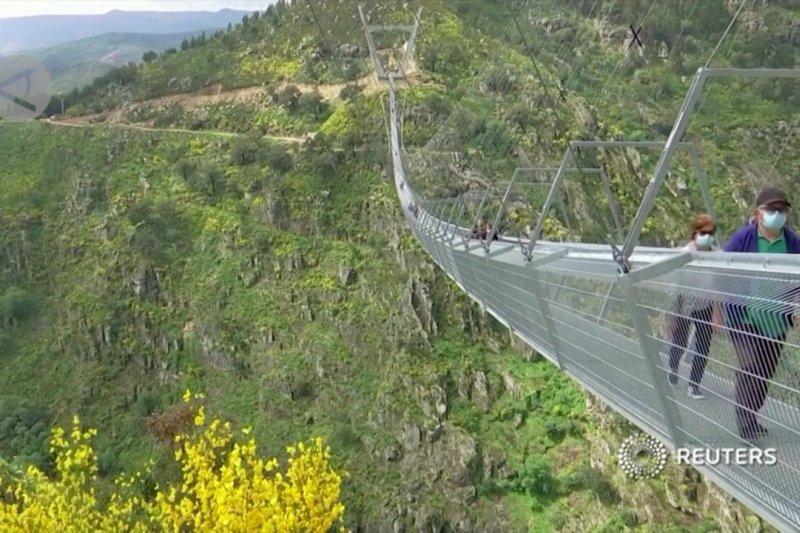 Jembatan gantung terpanjang dibuka di Portugal