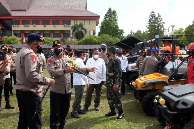 Dankor Brimob Polri cek kesiapan pencegahan karhutla di Kalteng