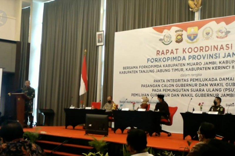 Pakta integritas untuk sukseskan PSU pemilihan Gubernur Jambi
