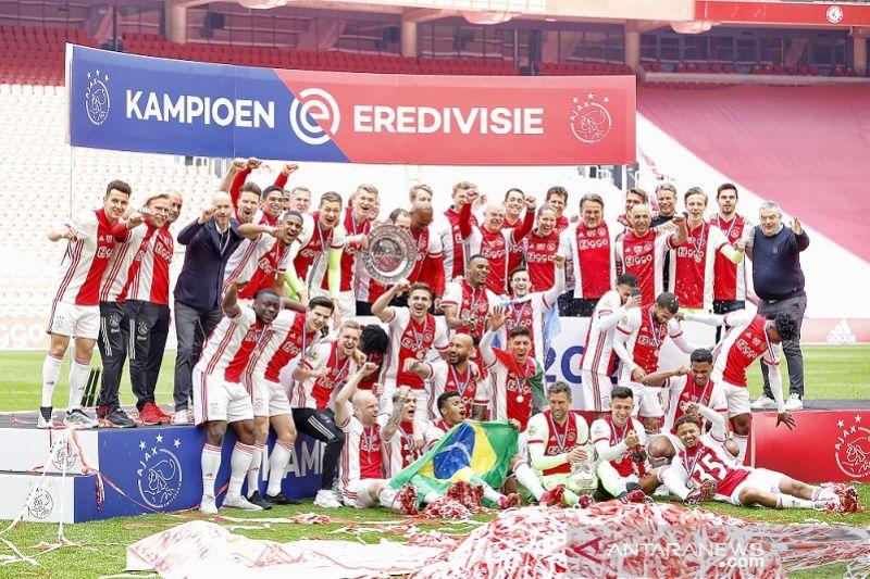 Klasemen Liga Belanda seusai Ajax rengkuh gelar juara