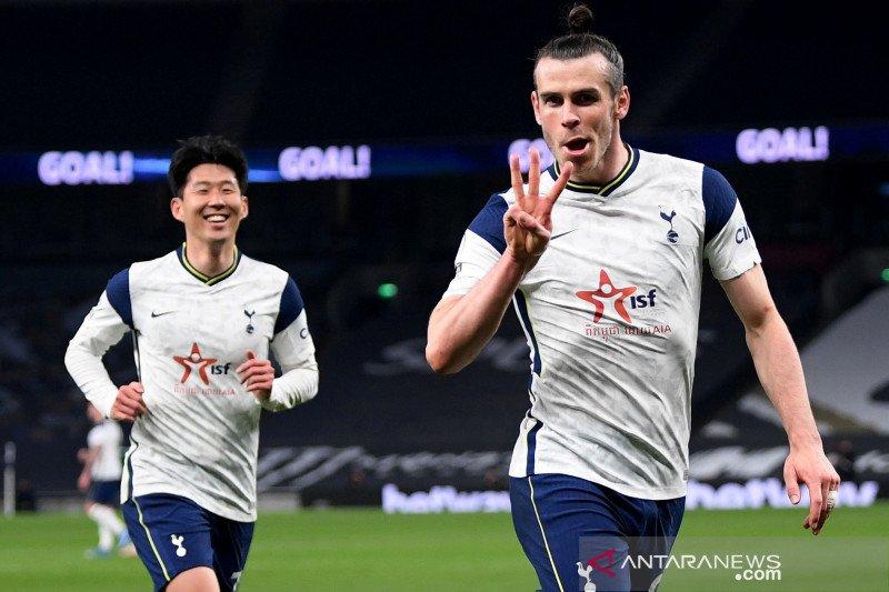 Liga Inggris: Bale hattrick, Tottenham  menang 4-0