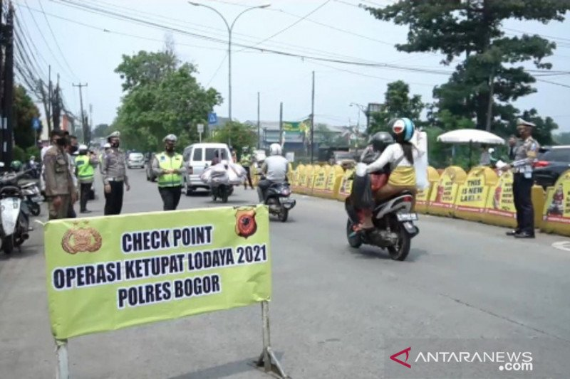 Penyekatan delapan titik antisipasi mudik di Bogor mulai berlaku 6 Mei