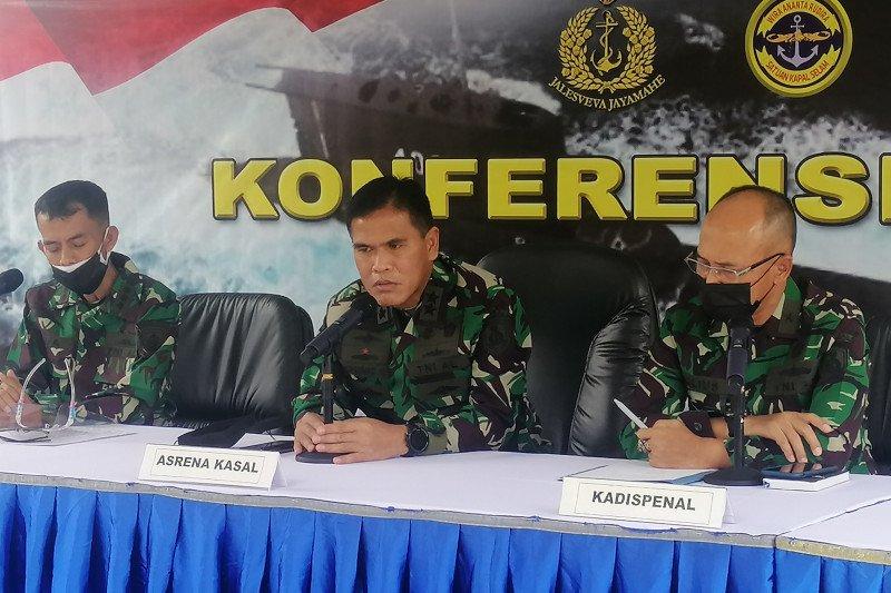 TNI AL akui kesulitan evakuasi KRI Nanggala