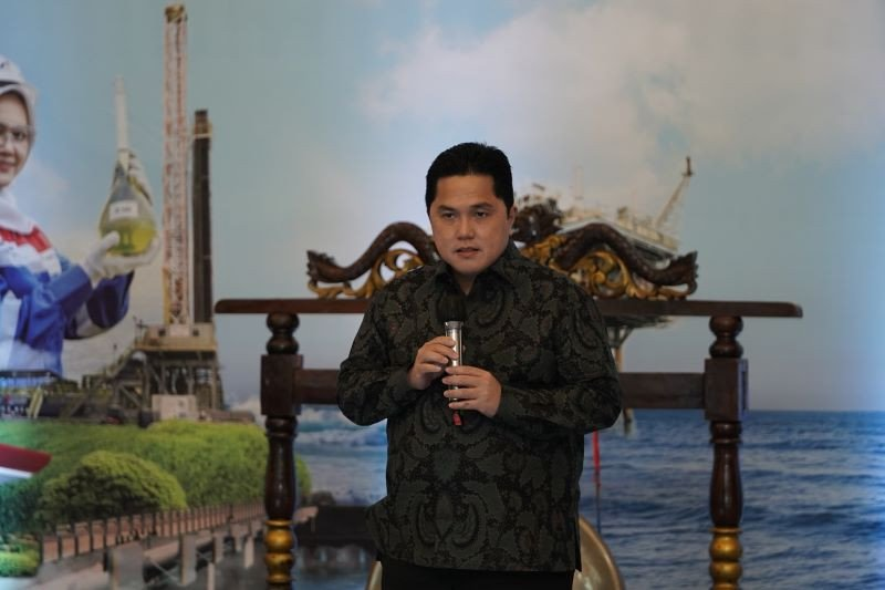 Erick Thohir resmikan subholding PT Pertamina International Shipping