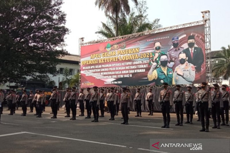 1.500 personel di kota Bandung mulai disebar ke pos penyekatan mudik