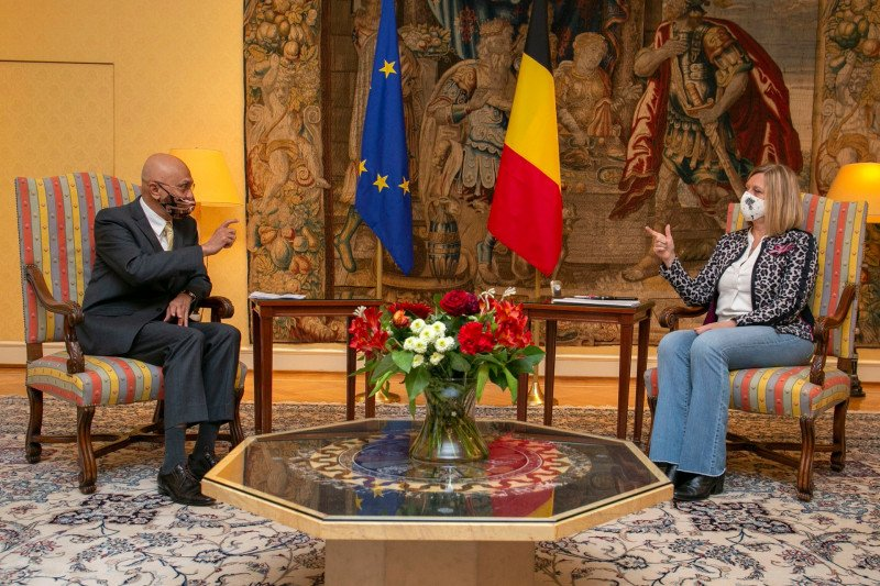 Dubes RI temui ketua parlemen Belgia bahas peningkatan kerja sama
