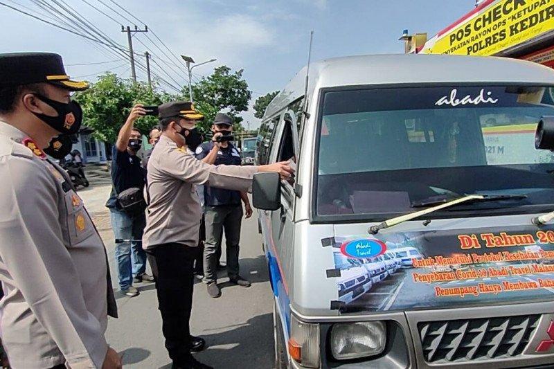 Larangan mudik, ratusan kendaraan di Kediri diminta putar balik