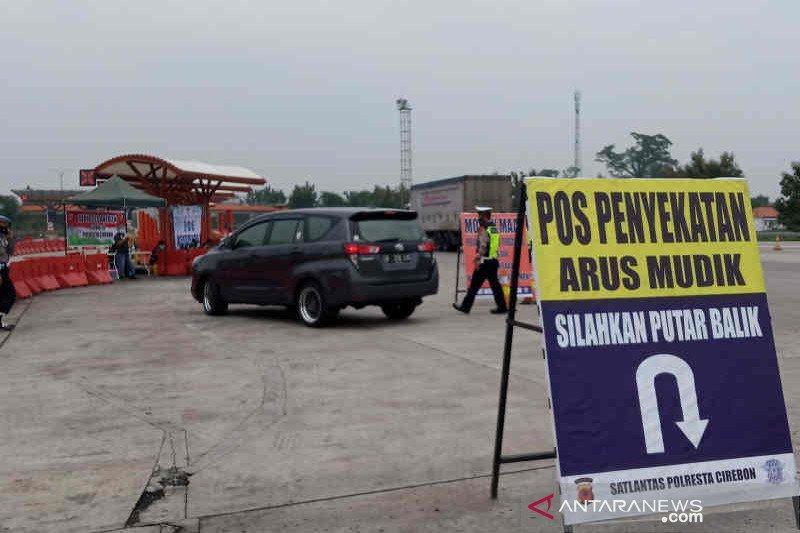 Polresta Cirebon putar balikkan 221 kendaraan pemudik
