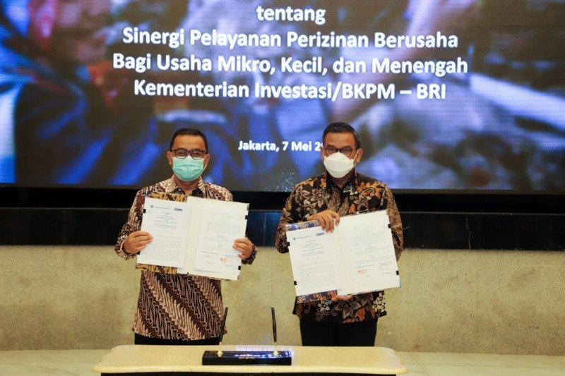 BRI sinergi dengan Kementerian Investasi permudah izin UMKM