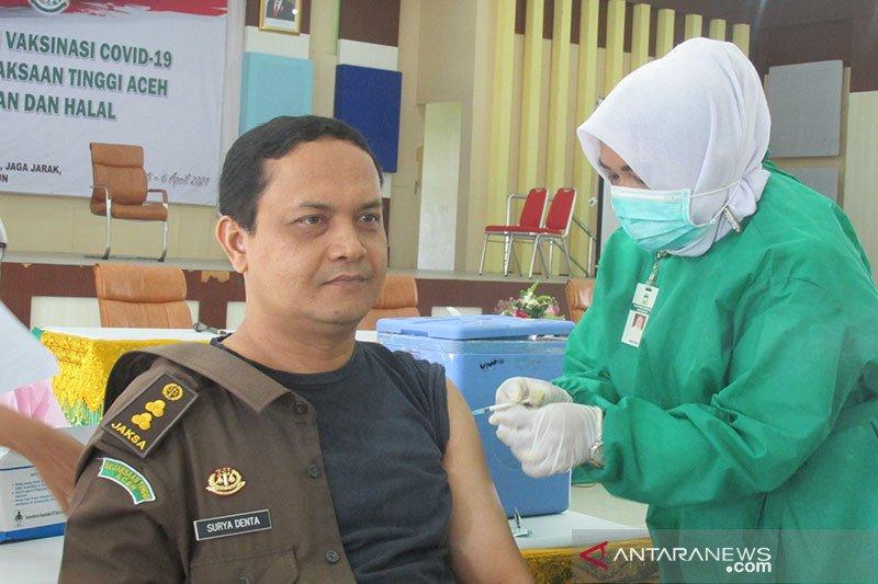 Vaksinasi COVID-19 jajaran Kejati Aceh tuntas