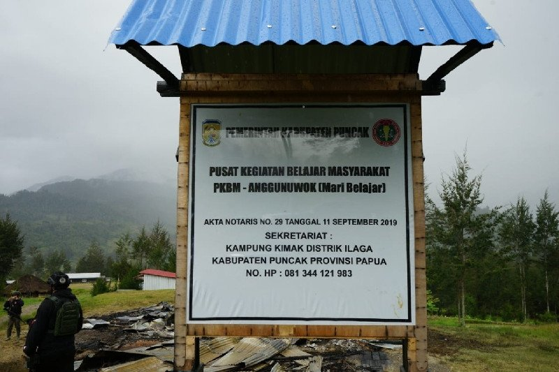 Rumah yang dibakar KKB adalah pusat belajar masyarakat