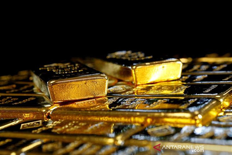 Harga emas melonjak lagi 15,6 dolar, dipicu data lemah pekerjaan AS