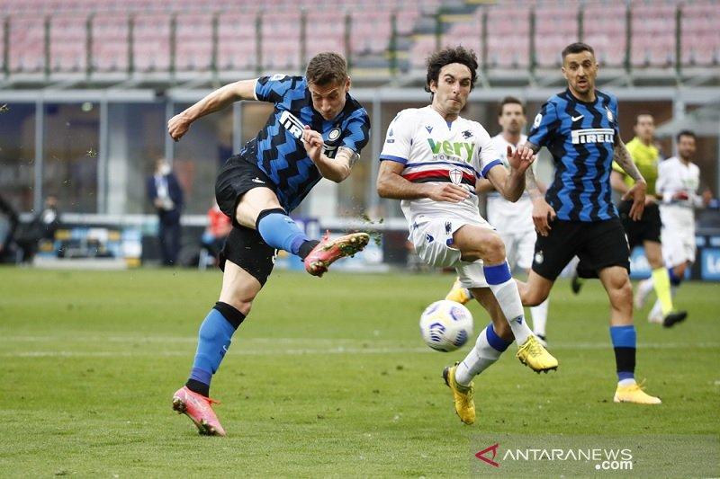 Sudah juara, Inter lanjutkan tren nirkalah saat gulung Sampdoria