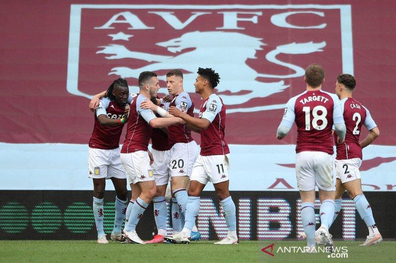 Liga Inggris: Babak pertama usai Aston Villa unggul atas Manchester United  1-0