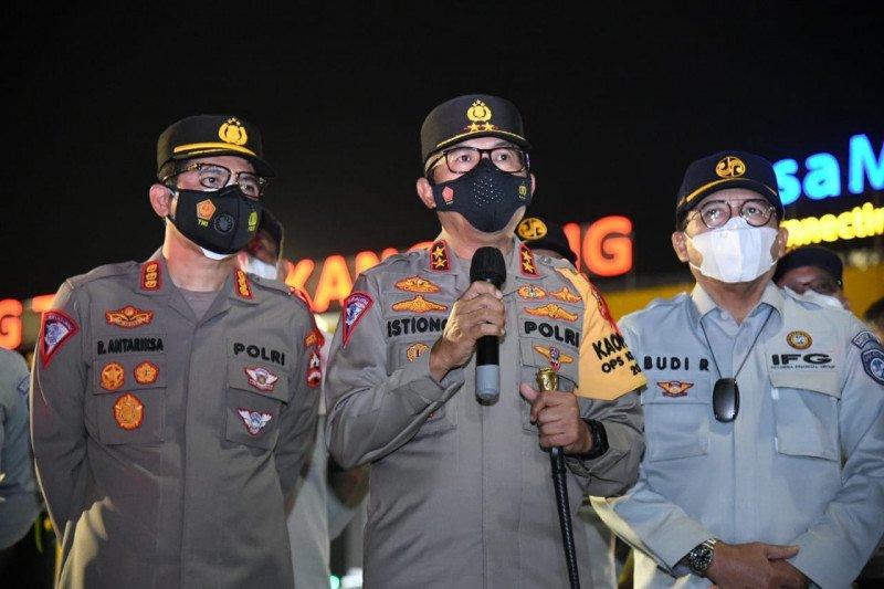 Polri libatkan anggota bersenjata di pos penyekatan jamin keamanan