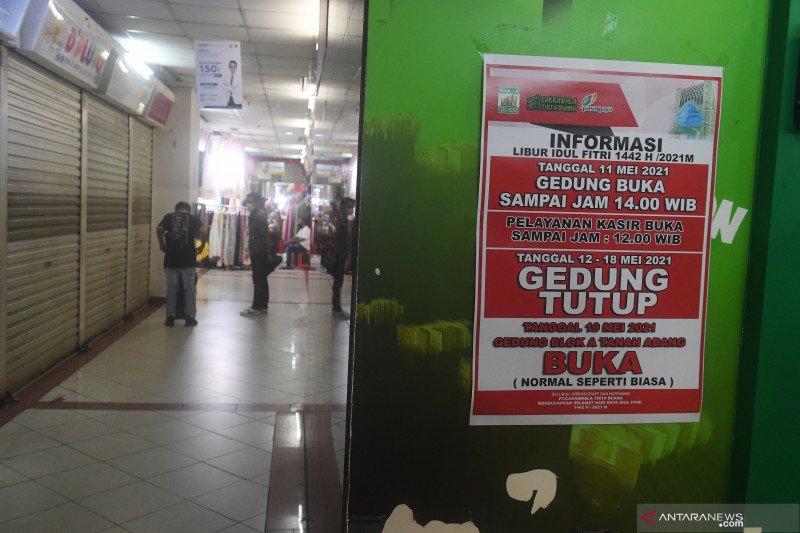 Jakarta kemarin, mal dihentikan hingga hari terakhir Pasar Tanah Abang
