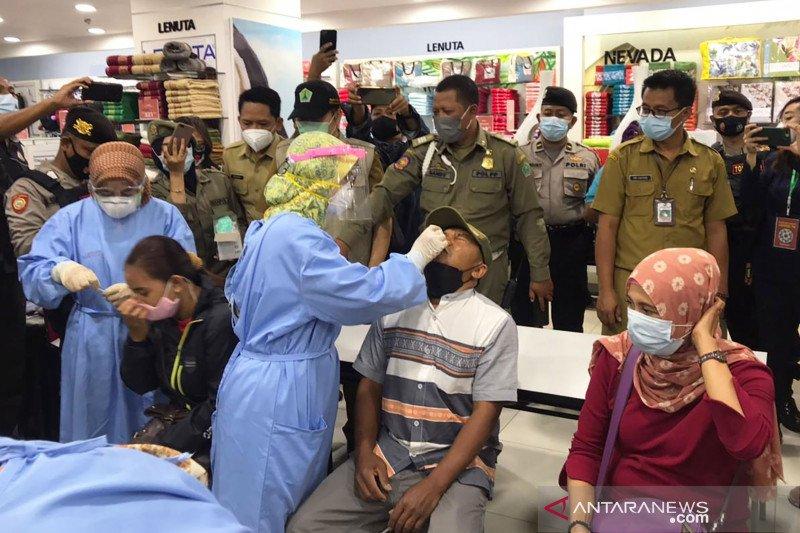 Dilakukan acak, tes antigen dilakukan di pusat perbelanjaan Malang