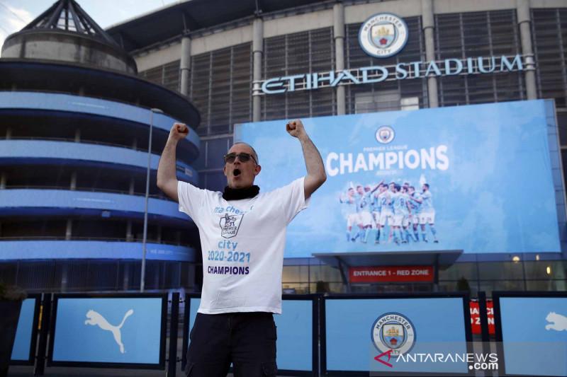 Manchester City segel gelar juara Liga Premier Inggris 2020/2021