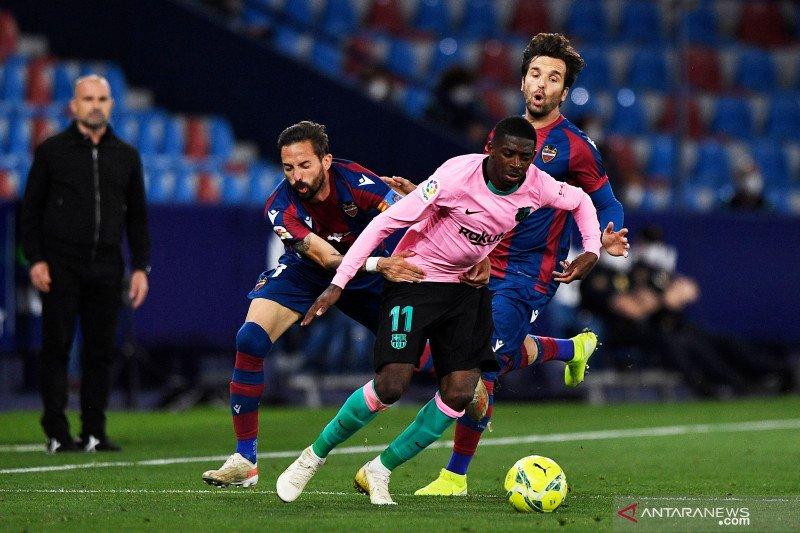 Diimbangi Levante, Barcelona kembali buang kesempatan ke puncak