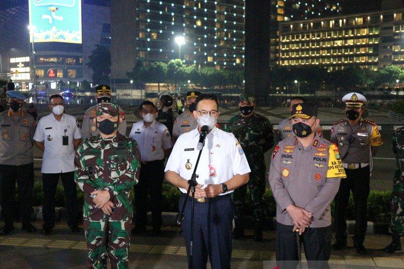 Pimpinan tiga pilar DKI gelar patroli pengamanan malam takbiran