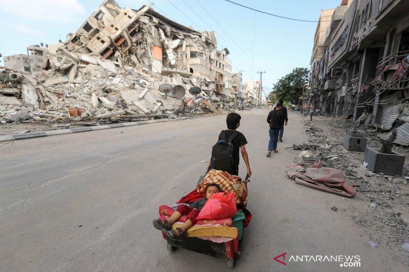 Anak-anak di Gaza alami trauma karena serangan udara Israel