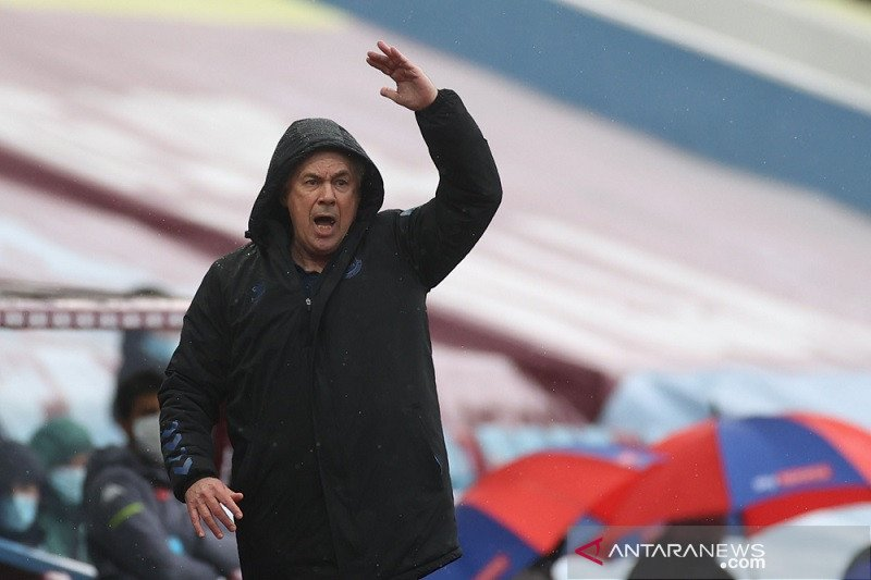 Diimbangi Villa, Ancelotti target Everton sapu bersih tiga laga sisa
