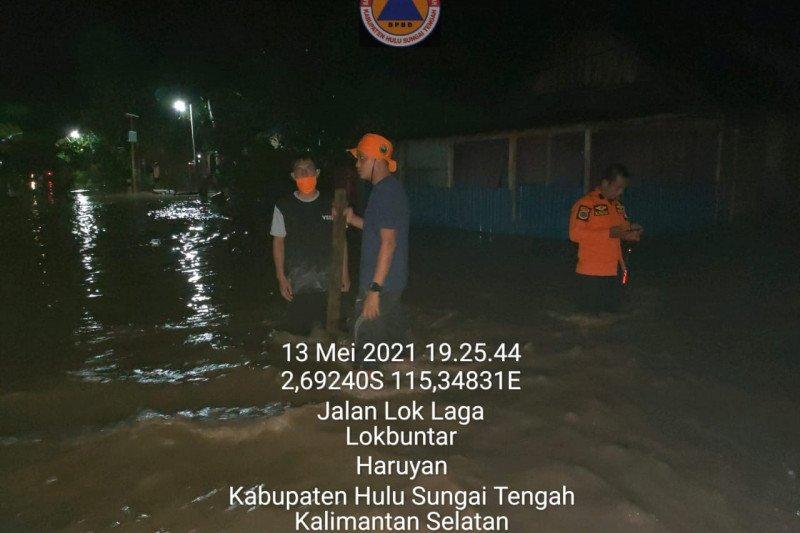 Sungai Satui dan Haruyan meluap, banjir landa 2 kabupaten di Kalsel